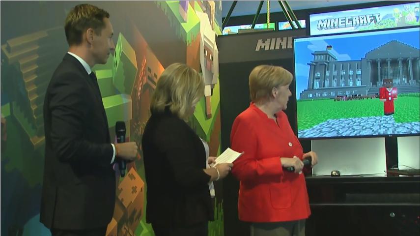 Ангела Меркель Открытие Gamescom 2017
