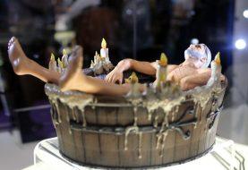 Ведьмак 3 готовит фигурку Геральта в ванне