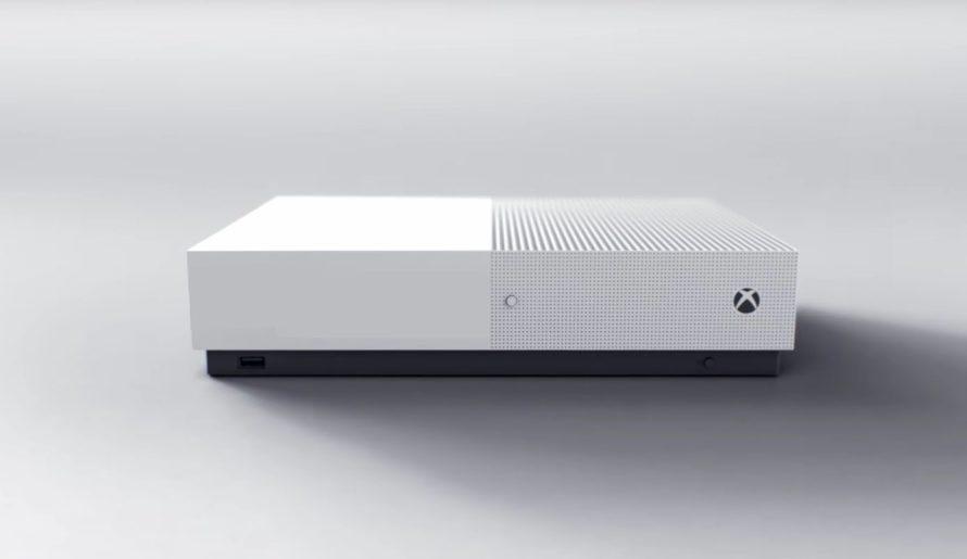 Xbox One S — консоль без дисковода